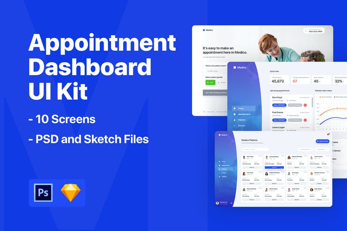 Thumbnail for Appointment Dashboard UI Kit