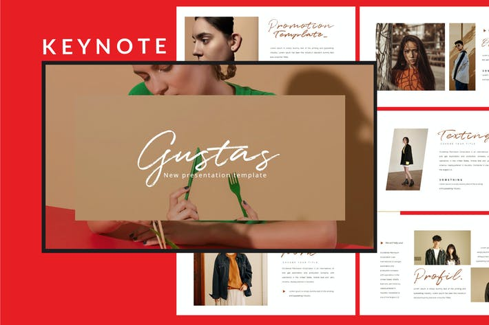 Thumbnail for Gustas - Keynote Template