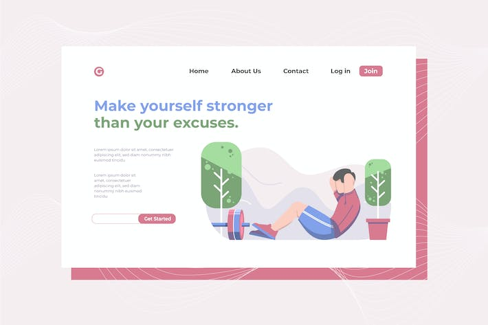 Thumbnail for Make yourself stronger Landing Page Illustration