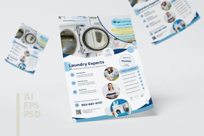 Thumbnail for Service de blanchisserie Design dépliant