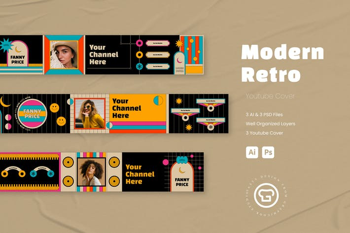 Thumbnail for Modern Retro Youtube Cover/Header