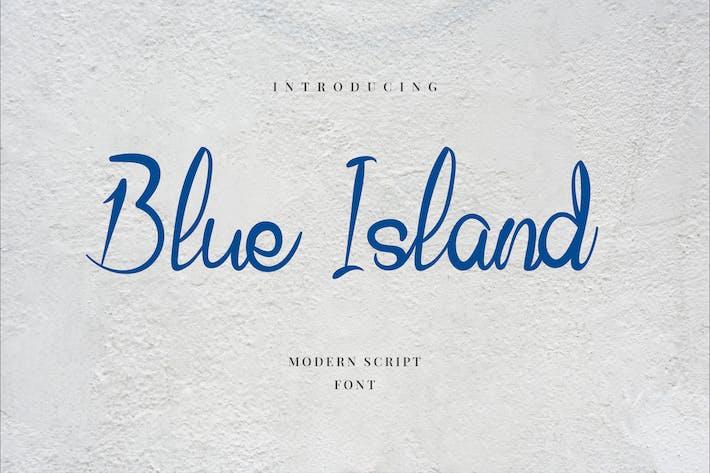 Thumbnail for Blue Island Hand Letter Script Font