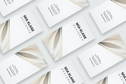 Business card with beige pattern