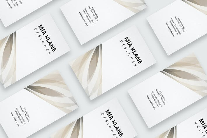 Cover Image For Business card with beige pattern