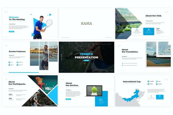 Thumbnail for Tennice Powerpoint Template