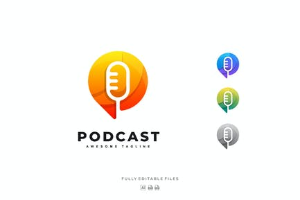 Mic Podcast Colorful Logo