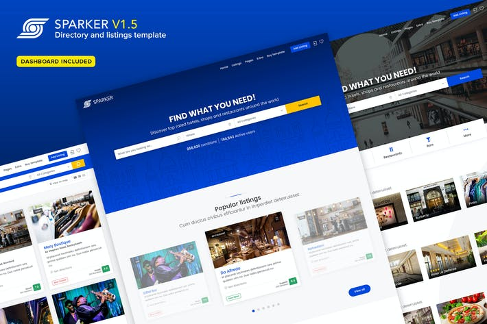 Thumbnail for Sparker - Directory and Listings Template