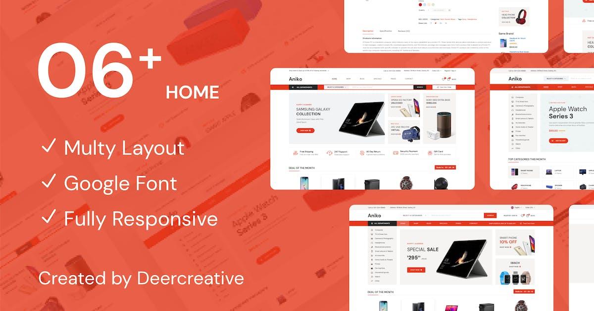 Download Aniko   Multipurpose Electronics eCommerce PSD by Leonard_Design