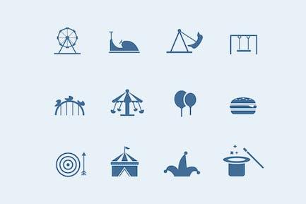 12 Amusement Park Icons