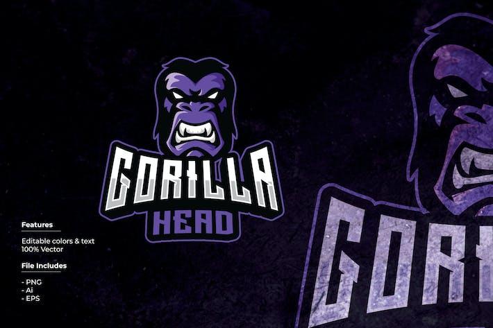 Thumbnail for Gorilla Head Sport and Esport Logo Template
