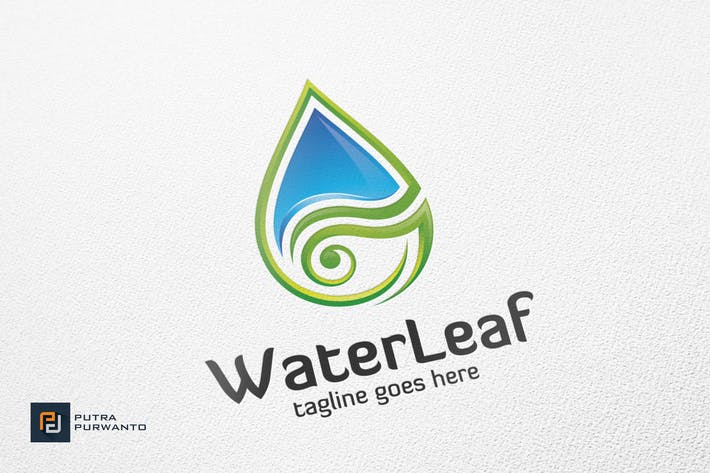 Thumbnail for Water Leaf - Logo Template