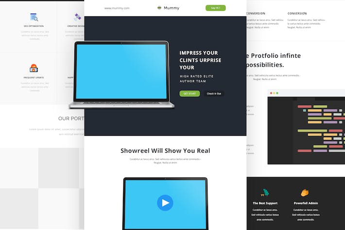Thumbnail for Mummy - Responsive Email + Online Template Builder