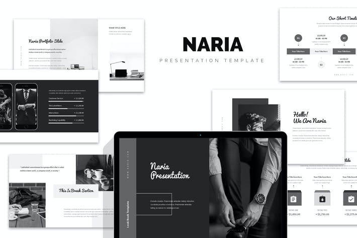 Thumbnail for Naria : Business Profile Powerpoint Template
