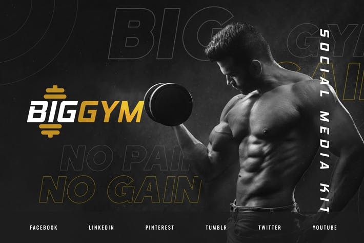 Thumbnail for Gym & Personal Fitness Trainer – Social Media Kit