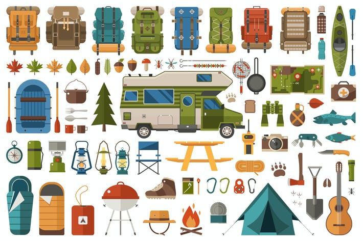 Thumbnail for Camping and Hiking Design Elements