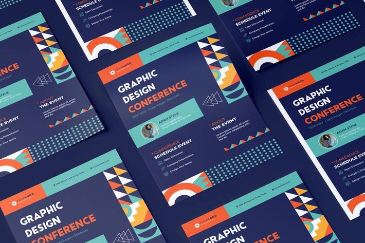 Thumbnail for Event Conference Flyer Illustrator Template