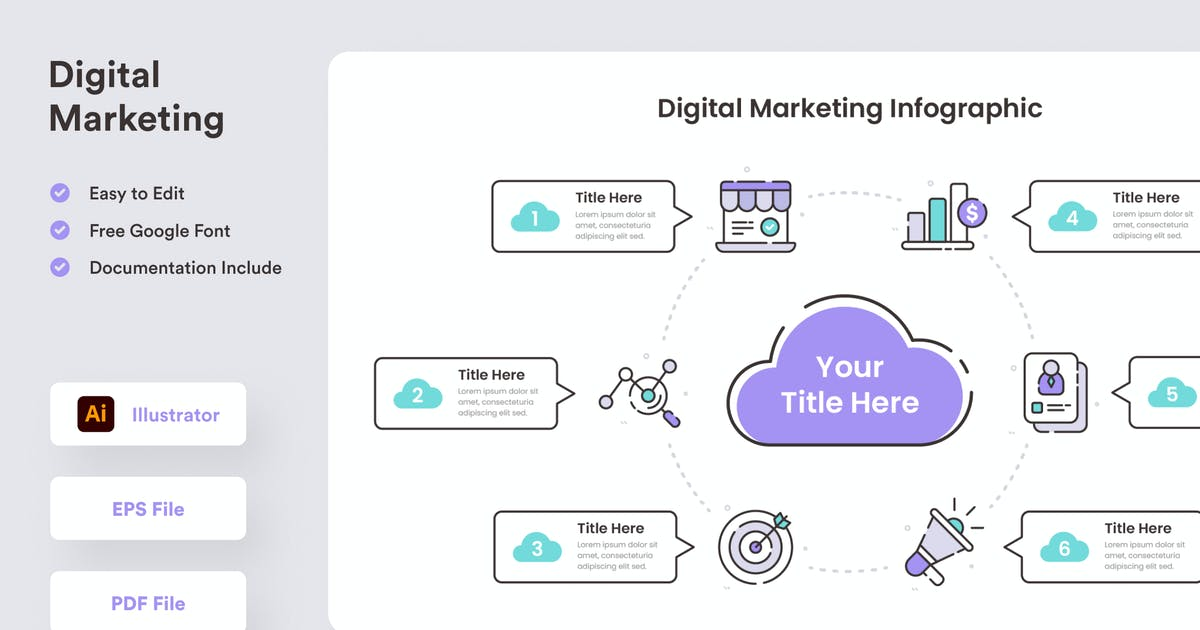 Download Digital Marketing Infographic - Muzitemp by GranzCreative