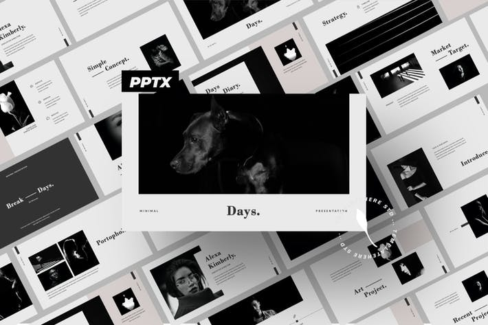 Thumbnail for Days Business Minimal Powerpoint Template