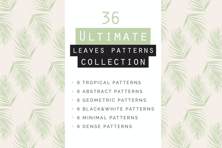 Thumbnail for Leaves Seamless Patterns Collection