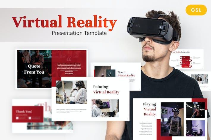 Thumbnail for Virtual Reality - Gaming Google Slides Template