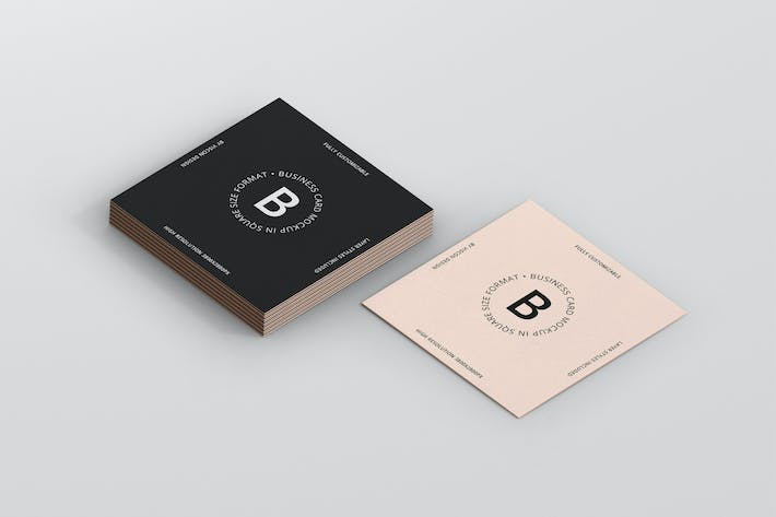 Thumbnail for Business Card Mockup Square Format