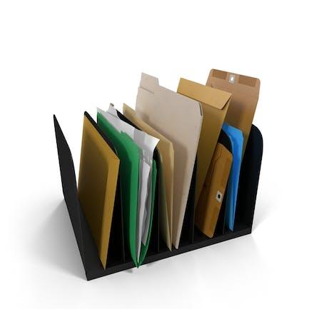 Держатель файлов, папки, конверты и бумага