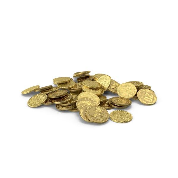 Маленькая куча золотых монет