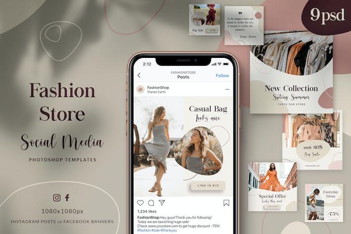 Thumbnail for Fashion Store - Social Media Posts