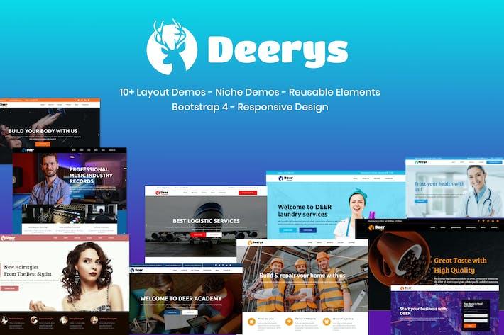 Thumbnail for Deerys - Responsive Multi-Purpose HTML Template