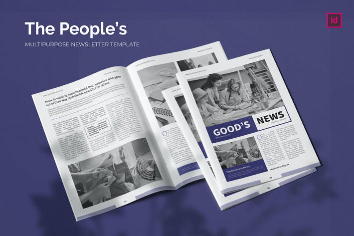 Thumbnail for People's Bussiness - Newsletter Template