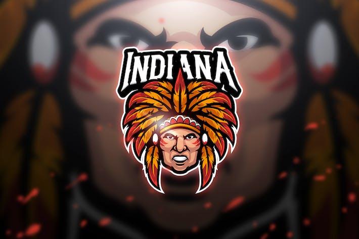 Thumbnail for Indian - Mascot & Esport Logo