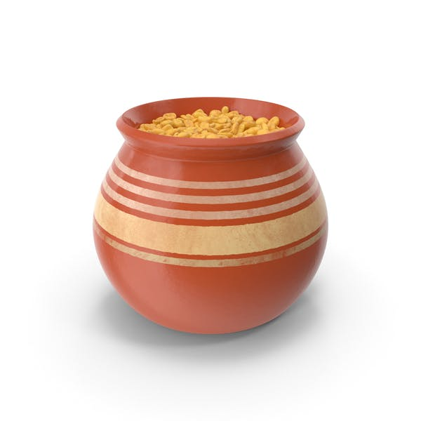 Ceramic Pot With Whole Wheat