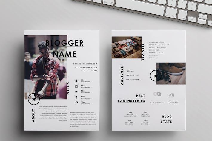 "Thumbnail for A4+US Letter Media Kit Template | ""Motivation"""