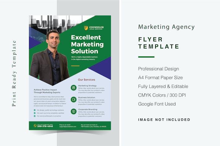 Thumbnail for Modèle de dépliant d'agence de marketing