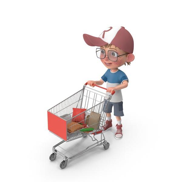 Thumbnail for Cartoon Boy Harry Shopping