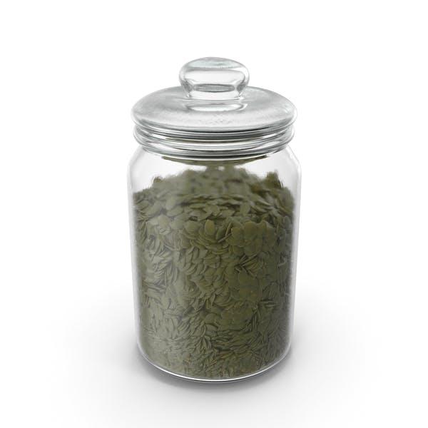 Jar with Peeled Pumpkin Seeds