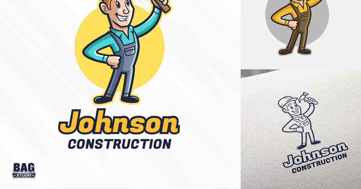 Download Constructor Mascot Logo Template by Gabey005