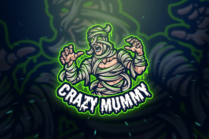 Thumbnail for Crazy Mummy Sport and Esport Logo Template