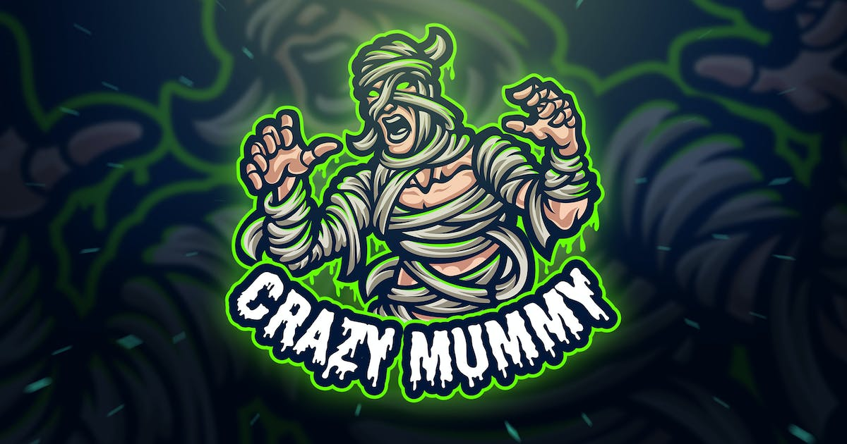 Download Crazy Mummy Sport and Esport Logo Template by Blankids