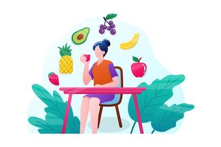 Gesunder Lebensstil und gesunde Früchte