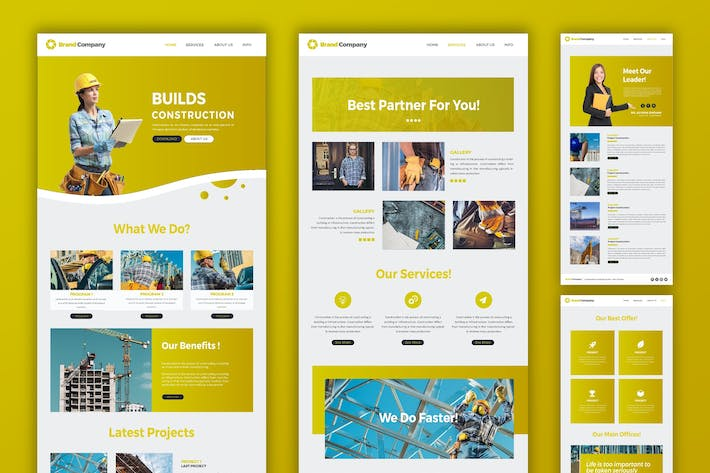 Thumbnail for Construction | Web Template