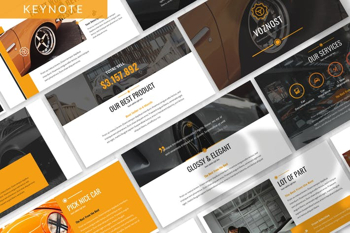 Thumbnail for Voznost - Automotive Keynote Template