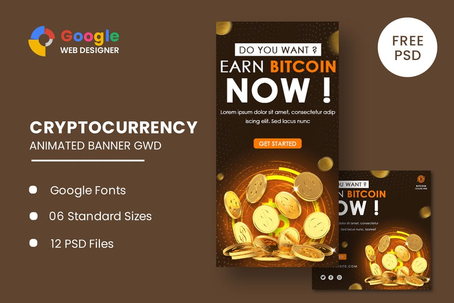 Bitcoin Ads Animated Banner Google Web Designer