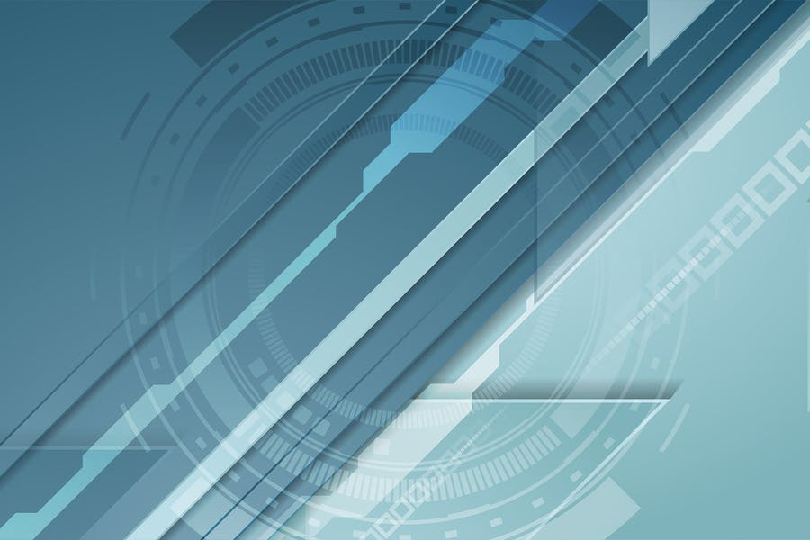 Abstract blue technology futuristic background