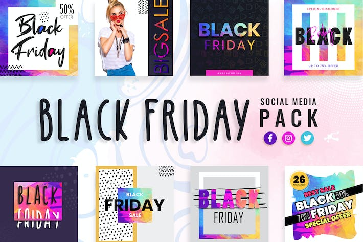 Thumbnail for Black Friday Social Media Templates