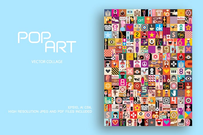 Thumbnail for Pop Art large vector collage