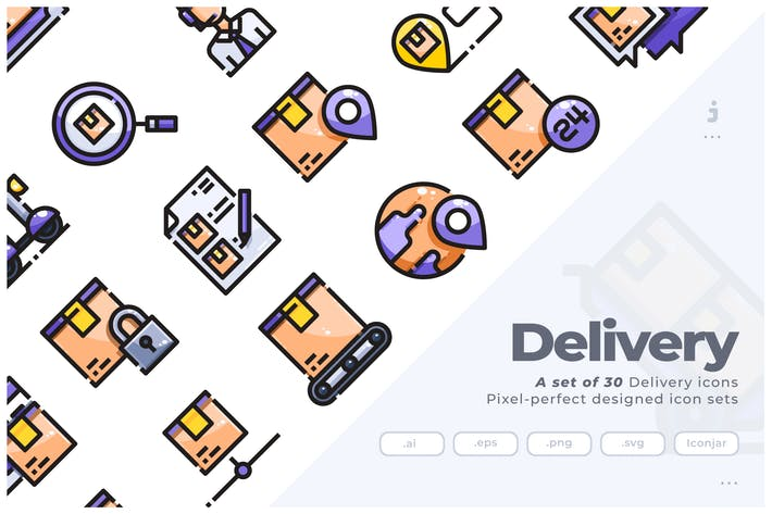 Thumbnail for 30 Delivery Icons