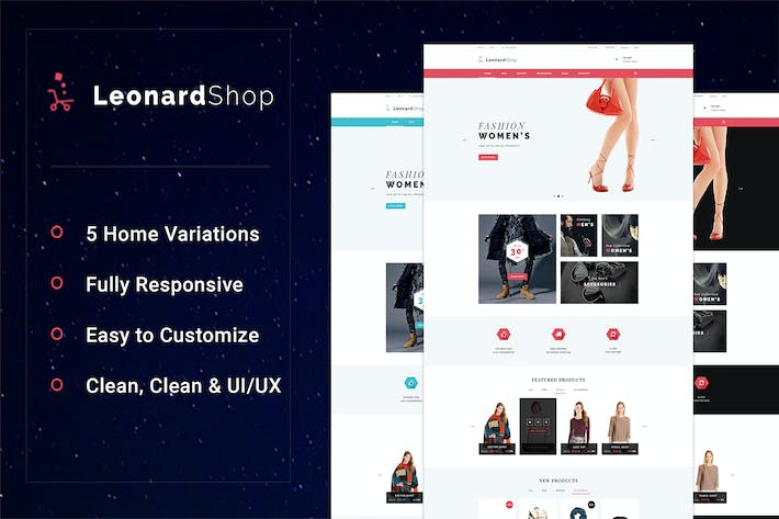 Thumbnail for LeonardShop - E-Commerce and Blog PSD Theme
