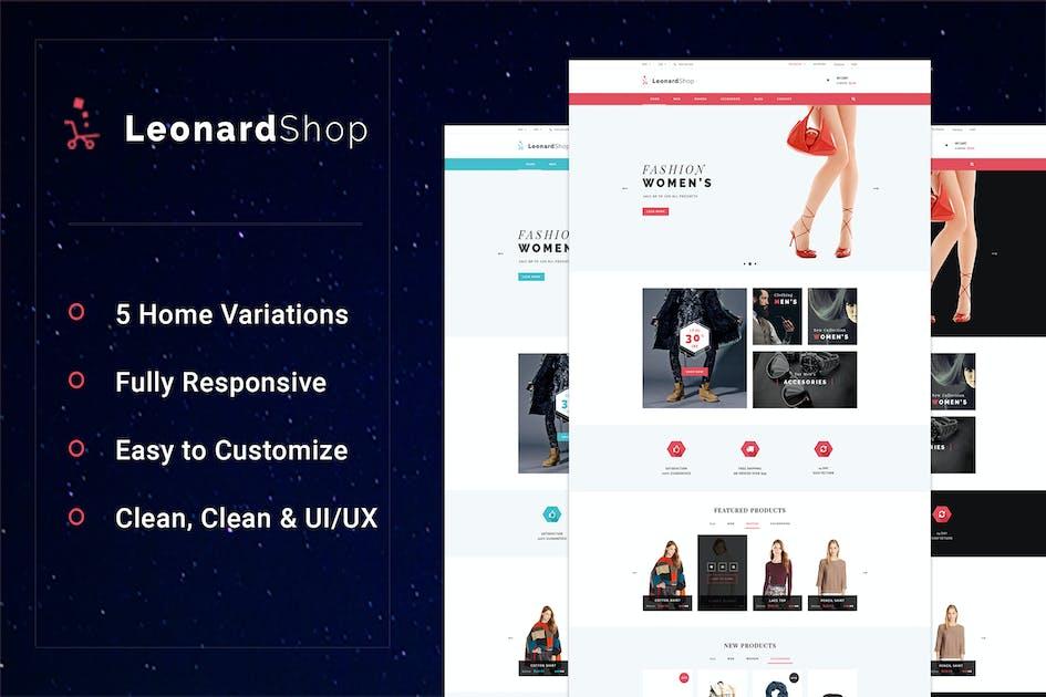 Download LeonardShop - E-Commerce and Blog PSD Theme by Leonard_Design