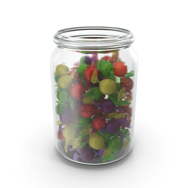 Thumbnail for Jar with Wrapped Spherical Candy
